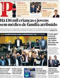 capa Público de 10 maio 2018