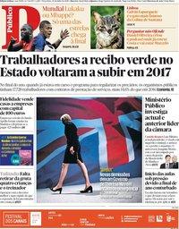 capa Público de 10 julho 2018