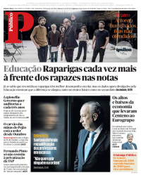 capa Público de 12 janeiro 2018