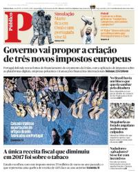 capa Público de 11 fevereiro 2018