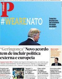capa Público de 12 julho 2018