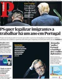capa Público de 13 junho 2018