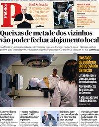 capa Público de 13 julho 2018