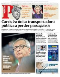capa Público de 13 setembro 2017
