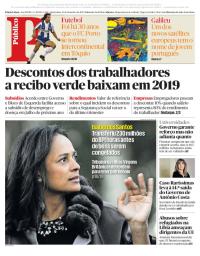 capa Público de 13 dezembro 2017