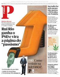 capa Público de 14 janeiro 2018