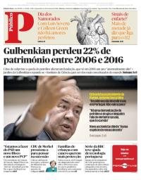 capa Público de 14 fevereiro 2018