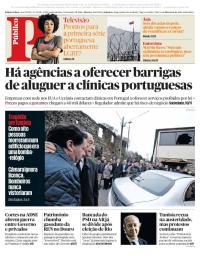 capa Público de 15 janeiro 2018