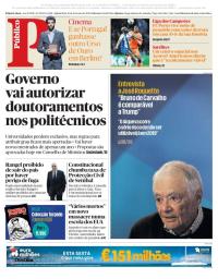 capa Público de 15 fevereiro 2018