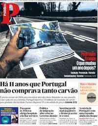 capa Público de 15 junho 2018