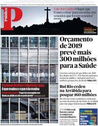 capa Público de 15 setembro 2018