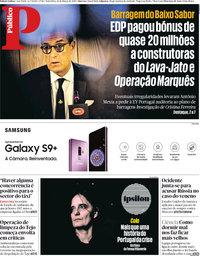 capa Público de 16 março 2018