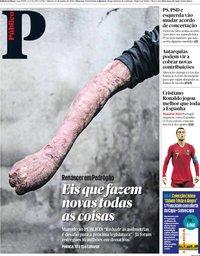 capa Público de 16 junho 2018