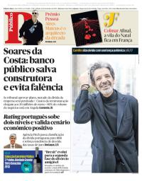 capa Público de 16 dezembro 2017