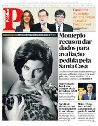 capa Público de 17 janeiro 2018