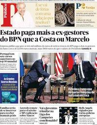 capa Público de 17 julho 2018