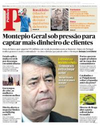 capa Público de 18 janeiro 2018