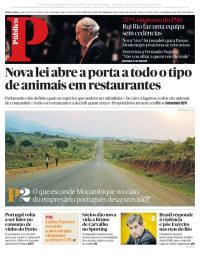 capa Público de 18 fevereiro 2018