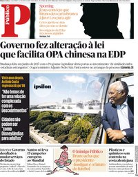 capa Público de 18 maio 2018
