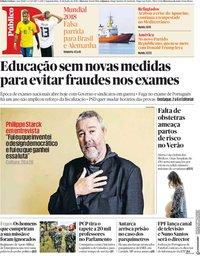 capa Público de 18 junho 2018