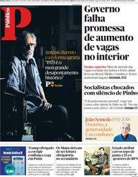 capa Público de 18 julho 2018