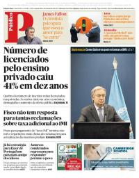 capa Público de 18 setembro 2017