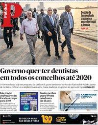capa Público de 18 setembro 2018