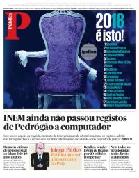 capa Público de 19 janeiro 2018