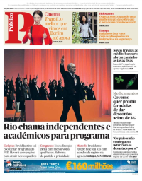 capa Público de 19 fevereiro 2018