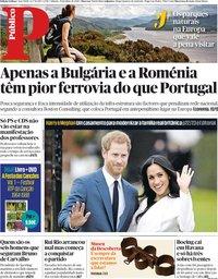 capa Público de 19 maio 2018