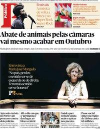 capa Público de 19 julho 2018