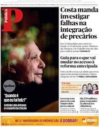 capa Público de 19 outubro 2018