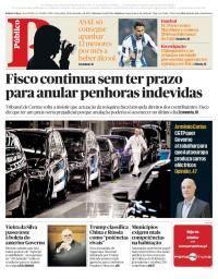 capa Público de 19 dezembro 2017