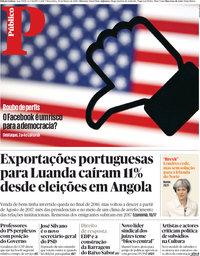 capa Público de 20 março 2018
