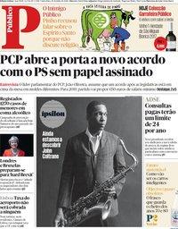 capa Público de 20 julho 2018