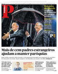 capa Público de 21 janeiro 2018