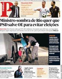 capa Público de 21 junho 2018