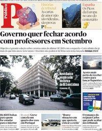 capa Público de 21 julho 2018