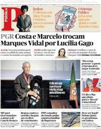 capa Público de 21 setembro 2018