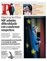 capa Público de 22 janeiro 2018
