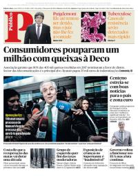 capa Público de 23 janeiro 2018
