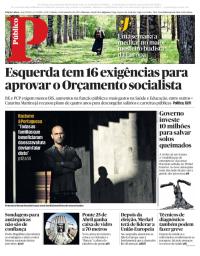 capa Público de 23 setembro 2017