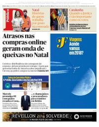 capa Público de 23 dezembro 2017