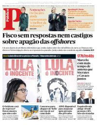 capa Público de 24 janeiro 2018