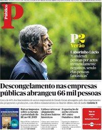capa Público de 24 julho 2018