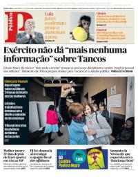 capa Público de 25 janeiro 2018