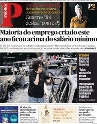 capa Público de 25 julho 2018