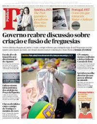 capa Público de 26 janeiro 2018