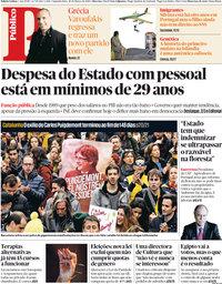 capa Público de 26 março 2018