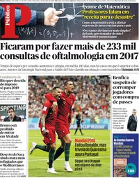 capa Público de 26 junho 2018
